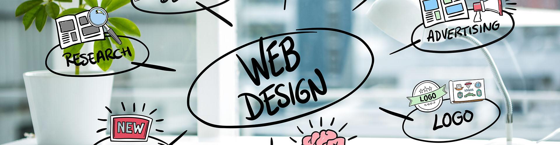 samui graphic web slider design concepts with blurred background